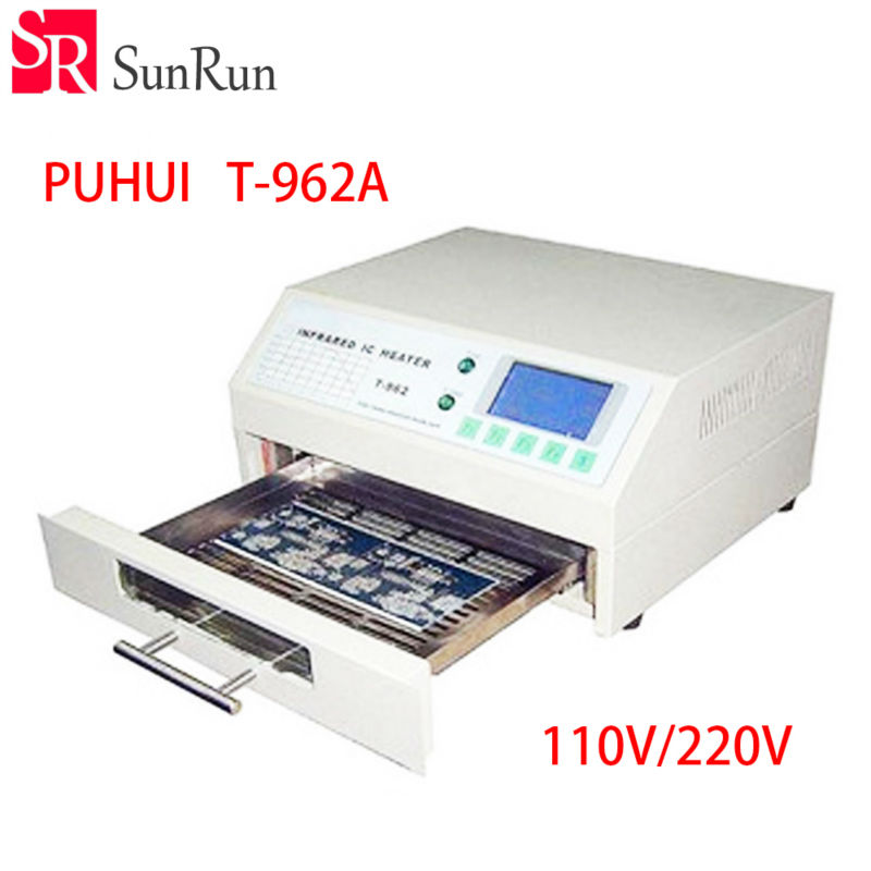 цена на high quality PUHUI T-962A Infrared IC Heater T962A Reflow Oven BGA SMD SMT Rework Sation T 962A Reflow Wave Oven