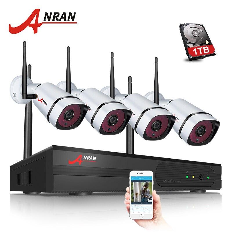 Nouveau P2P 4CH WIFI 960 P NVR Sans Fil Imperméable À L'eau En Plein Air Vidéo Surveillance de Sécurité À Domicile 1.3MP WIFI IP Caméra Système Dur disque