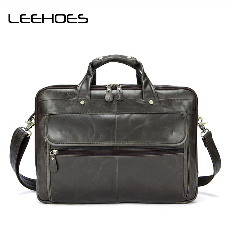 2017 Vintage Genuine Leather Bag Men Cowhide Men Crossbody Bags Men's Travel Shoulder Bag Tote Laptop Briefcases Solid Hand Bags yishen genuine leather bag men bag cowhide men crossbody bags men s travel shoulder bags tote laptop briefcases handbags bfl 048