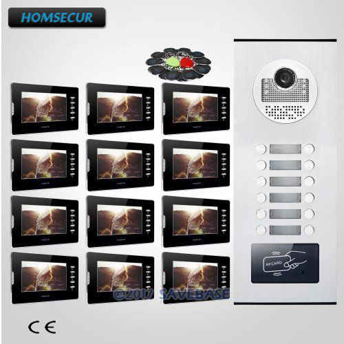 HOMSECUR 7 Wired Video&Audio Secure Doorbell Intercom with Mute Monitor for 12 FamiliesHOMSECUR 7 Wired Video&Audio Secure Doorbell Intercom with Mute Monitor for 12 Families