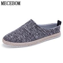 New 2016 Men Canvas font b shoes b font slip on loafers fashion hemp high quality