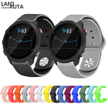 Laforuta Silicone Band For Garmin Forerunner 245 Strap Vivoactive 3 645 Bracelet Women Men Rubber WristBand 20mm Loop
