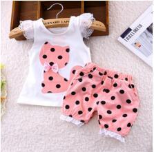 BibiCola Baby Girls Summer clothing set toddler girls vest clothes sets petals short  T-shirt + pants suit Baby & Toddler Girl