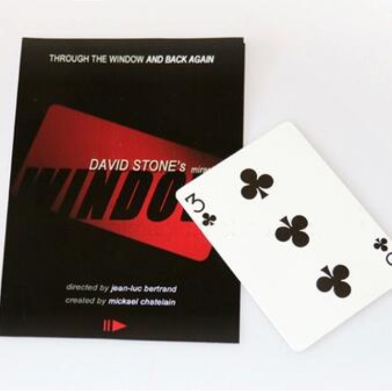 Window david stone change cards over the window magic tricks with a bicycle free shipping