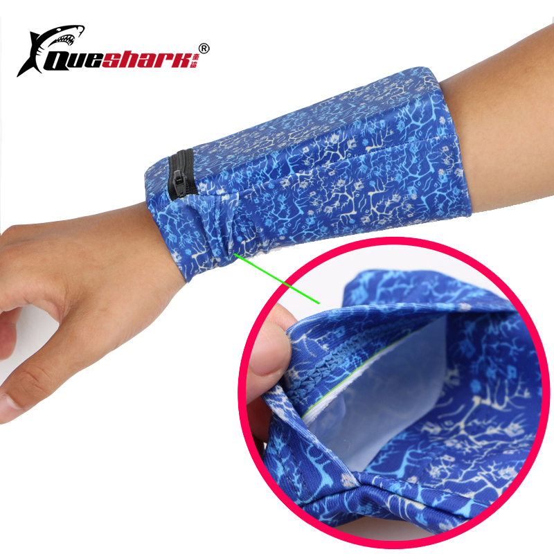 Queshark Running Bag Fitness Phone Wrist Pouch Wallet Basketball Sweatband Jogging Cycling Gym Arm Band Wristband Bag