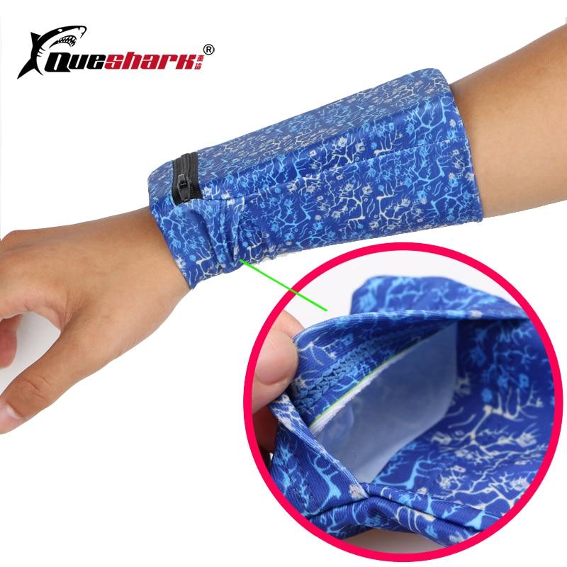 Queshark Running Bag Fitness Phone Wrist Pouch Wallet Basketball Sweatband Jogging Cycling Gym Arm Band Wristband Bag
