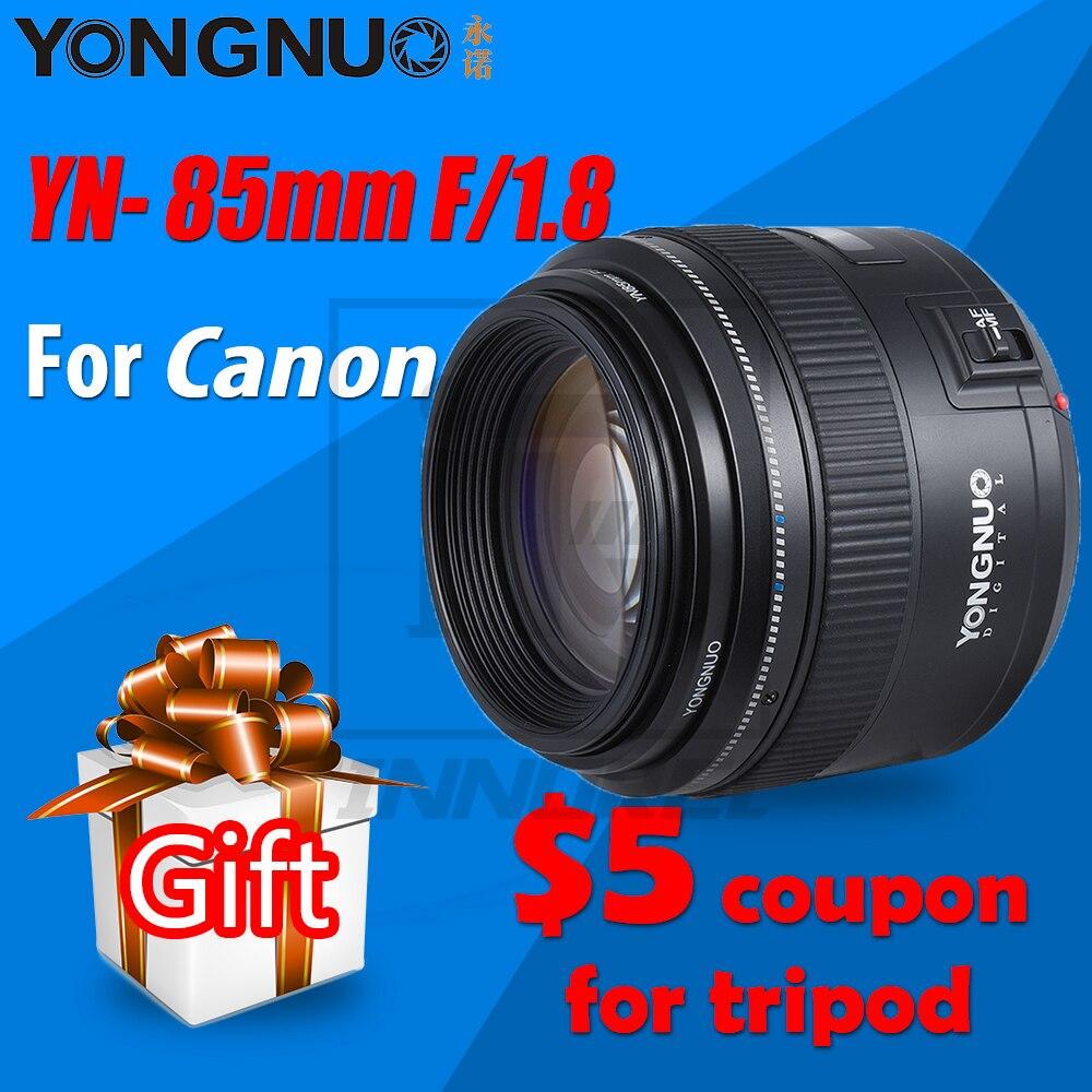 Original YONGNUO YN85mm 85mm Câmera com Foco Fixo Lente f1.8 AF/MF Lens para Canon Ef EOS Câmeras 70D fotografia de Retrato