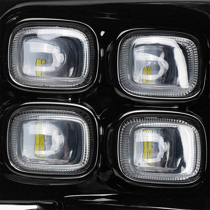 2Pcs Für BMW X4 F26 X5 F15 X5 M F85 X6 F16 X6 M F86 Auto styling Vorderseite LED DRL Nebel Licht Nebel Lampe Montage - 5