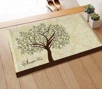 Doormat mat mats slip resistant pad coral fleece carpet 40 60