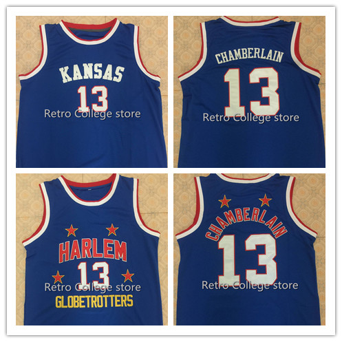 ... Adidas Wilt Chamberlain Mens Authentic Royal Blue Jersey ... Kansas  Jayhawks 13 Wilt Chamberlain Retro Too Tall Hall Harlem Globetrotters  Jerseys Size ... 5b04e1377