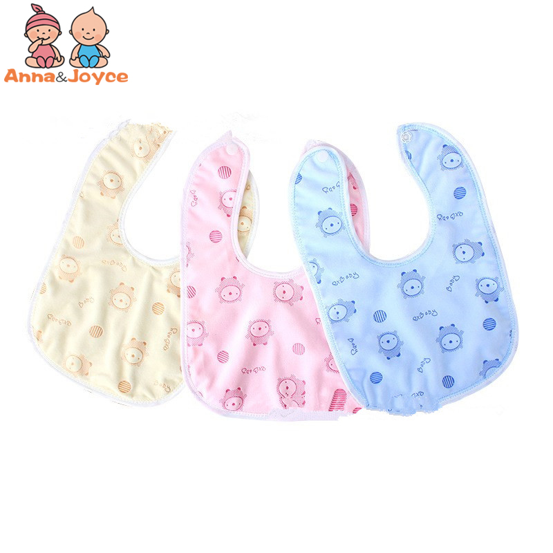 100pcs/Lot Baby Bibs Waterproof Mouth Water Towel Cotton Infants Ultra-soft Pocket A Variety of Color Rice