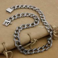 18 36 Solid 316L Stainless Steel Mens Biker Rocker Punk Necklace 5A010N