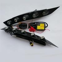 2x CAR Specific White LED DRL Daytime Running Ligh front fog bumper lamp for nissan juke 2013 2012 2011