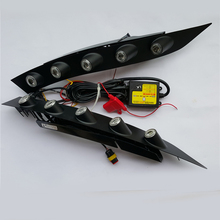 2x specyficzna dla samochodu biała dioda LED do jazdy dziennej Ligh przednia lampa zderzaka przeciwmgielnego dla nissan juke 2013 2012 2011