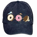 Unisex The Donut Cat DIY Adjustable Baseball Hat Denim Baseball Cap Children Sports Caps Pupils Hats Boy Girls Casual Peaked cap