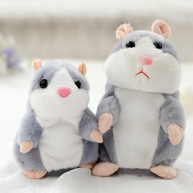 Talking Hamster Plush Toys For Children Stuffed Animals Kids Kawaii Mouse Dolls Educational Speak Pet Gift Sound Record