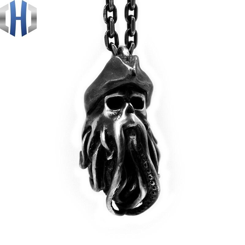 Collier pendentif Punk en argent fait à la main - 2