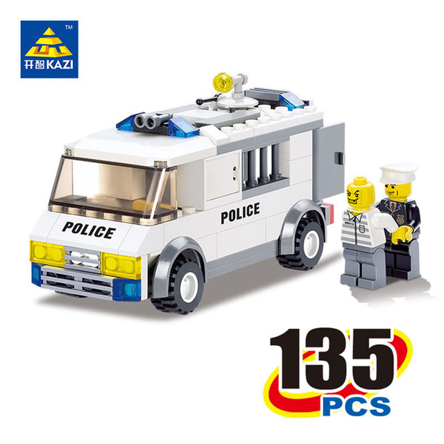KAZI 6730 Police Truck Building Blocks Educational Building Bricks Squad Car Toys DIY Block Brinquedos Kids Birthday Gift ...