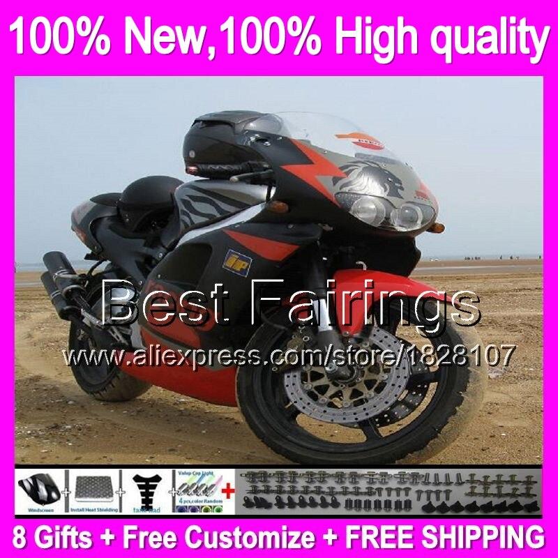Fairing For Aprilia Red Silver RS250 95-97 RS 250 RSV 8B6 RSV250 95 96 97 1995 1996 1997 RSV250R Matte Black RS-250 +decal