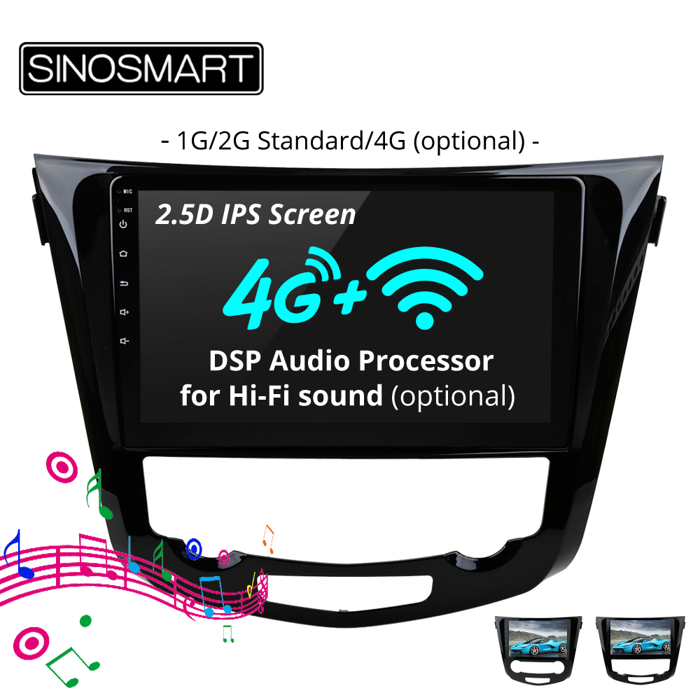 SINOSMART Stock in Russia EU 2 5D IPS Car Navigation GPS Player for Nissan X trail