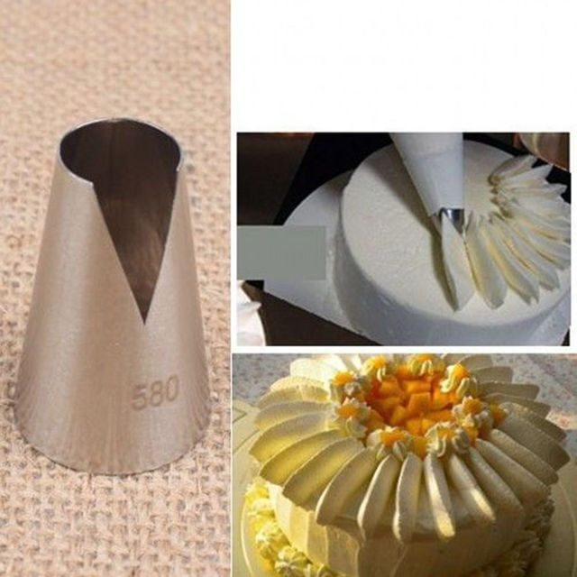 222  Popular 580  Flower Icing Piping Tips Nozzle Cake Cupcake Decorating  Pastry Tool 705b3c24d219
