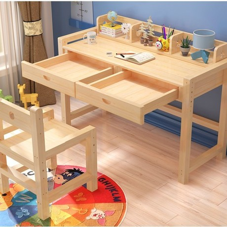 Children Furniture Sets one table+one chair sets solid wood kids Furniture sets kids chair and study table sets 100*50*75cm new