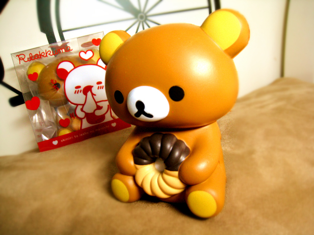 new rare 12 5 cm squishy jumbo rilakkuma san x squishies buns coffee holding a donut free