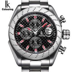 IK сапфировое стекло Автоматическая самовзводные Часы шкала Multifunction Sub Dial Лупа водостойкие модные повседневные мужские спортивные часы