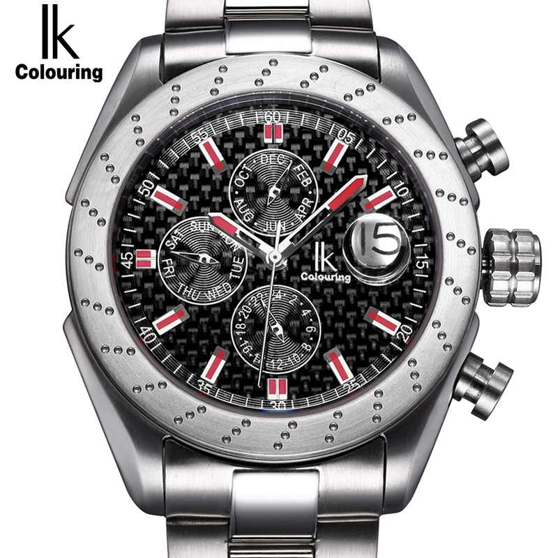 IK Sapphire crystal Automatic Self Wind Watch Scale Multifunction Sub Dial Magnifier Waterproof Fashion Casual Men Sport WatchIK Sapphire crystal Automatic Self Wind Watch Scale Multifunction Sub Dial Magnifier Waterproof Fashion Casual Men Sport Watch