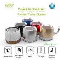 Metallo Acciaio Altoparlanti Bluetooth senza fili Mini Altoparlante Portatile Intelligente Vivavoce Speaker Radio FM Bass boombox Supporto SD Card