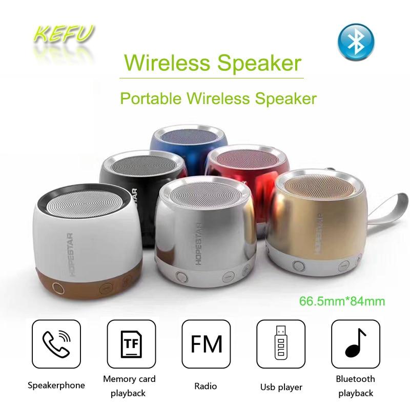 Wireless Metal Steel Bluetooth Speakers Mini Portable Speaker Smart Hands Free Speaker FM Radio Bass boombox