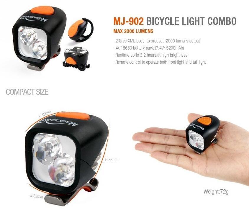 Magicshine MJ-902 feu de bicyclette avant et arrière