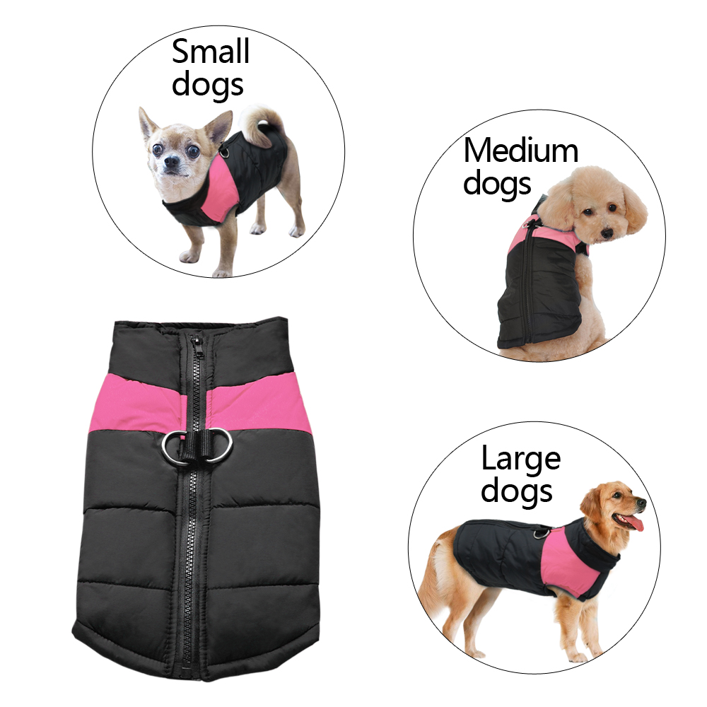 Waterproof Dog Jacket with Zipper for Large Dogs Made with Nylon Material 8
