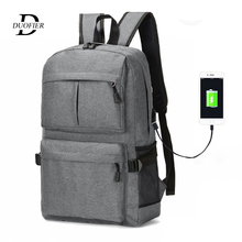 Fashion Laptop Backpack USB Charging Computer Backpacks Men