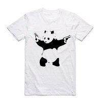 2017 Men Banksy Urban Design Art T Shirt White O Neck Short Sleeves Summer Hipster Streetwear