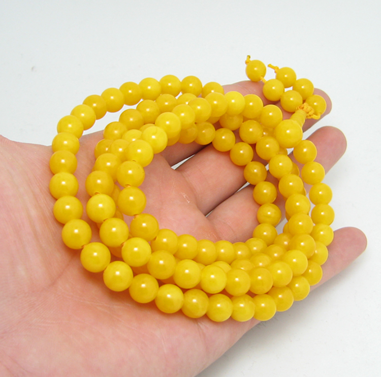 Bracelet en pierre naturelle ambre 108 vieux miel jaune huile de poulet perle bracelets pendentif pour hommes et femmes