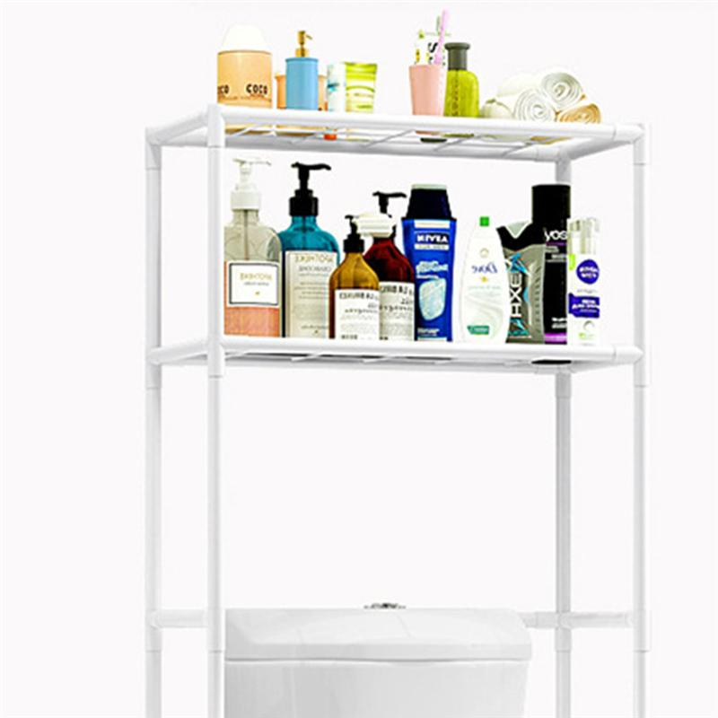 Au-dessus du support de stockage de toilette support de stockage solide antidérapant à 3 niveaux d'étagère de stockage de support d'affichage pour la salle de bains de toilette