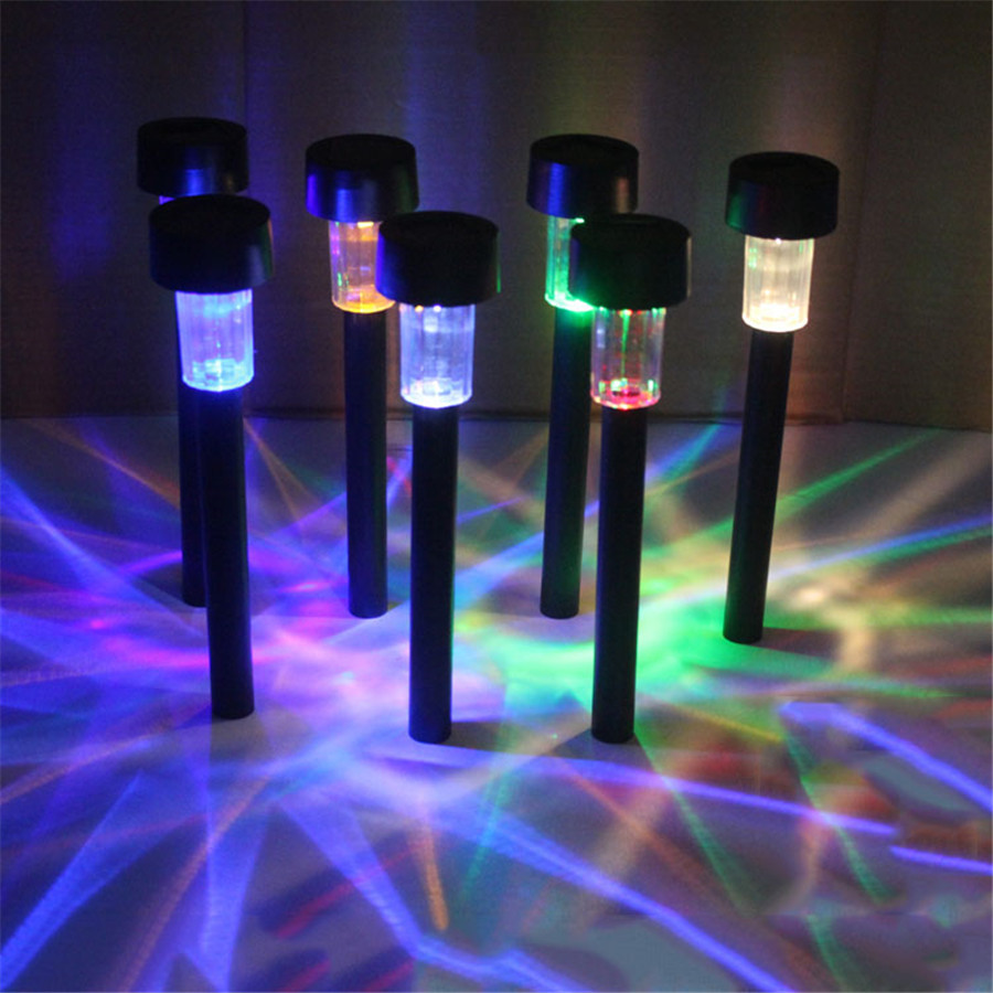 Diy 5 Pvc Led Landscape Lights: 5pcs Solar Led Lawn Light Plastic Spotlight Landscape