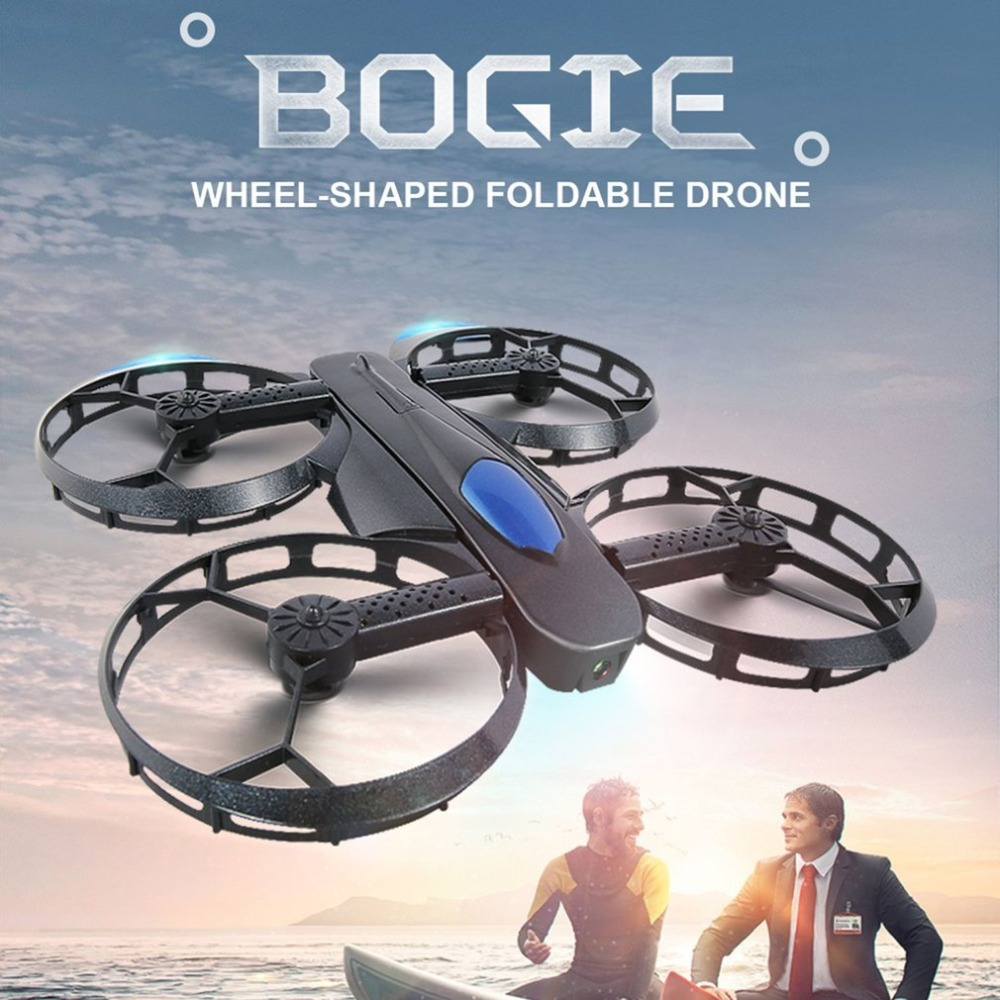JJR/C H45 BOGIE Wifi FPV Quadcopter RC Drone with 720P Camera Voice Control Altitude Hold Wheel Shaped Foldable Mini DroneJJR/C H45 BOGIE Wifi FPV Quadcopter RC Drone with 720P Camera Voice Control Altitude Hold Wheel Shaped Foldable Mini Drone