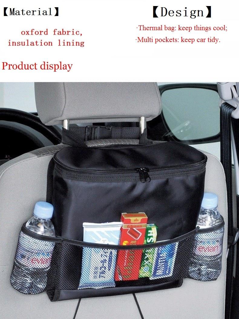 34260ff290368 السيارات سيارة SUV مقعد السيارة الخلفي حقيبة متعددة جيوب حامل مُنظِم حقيبة  عزل حراري أشتات المشروبات الأنسجة صندوق تخزين