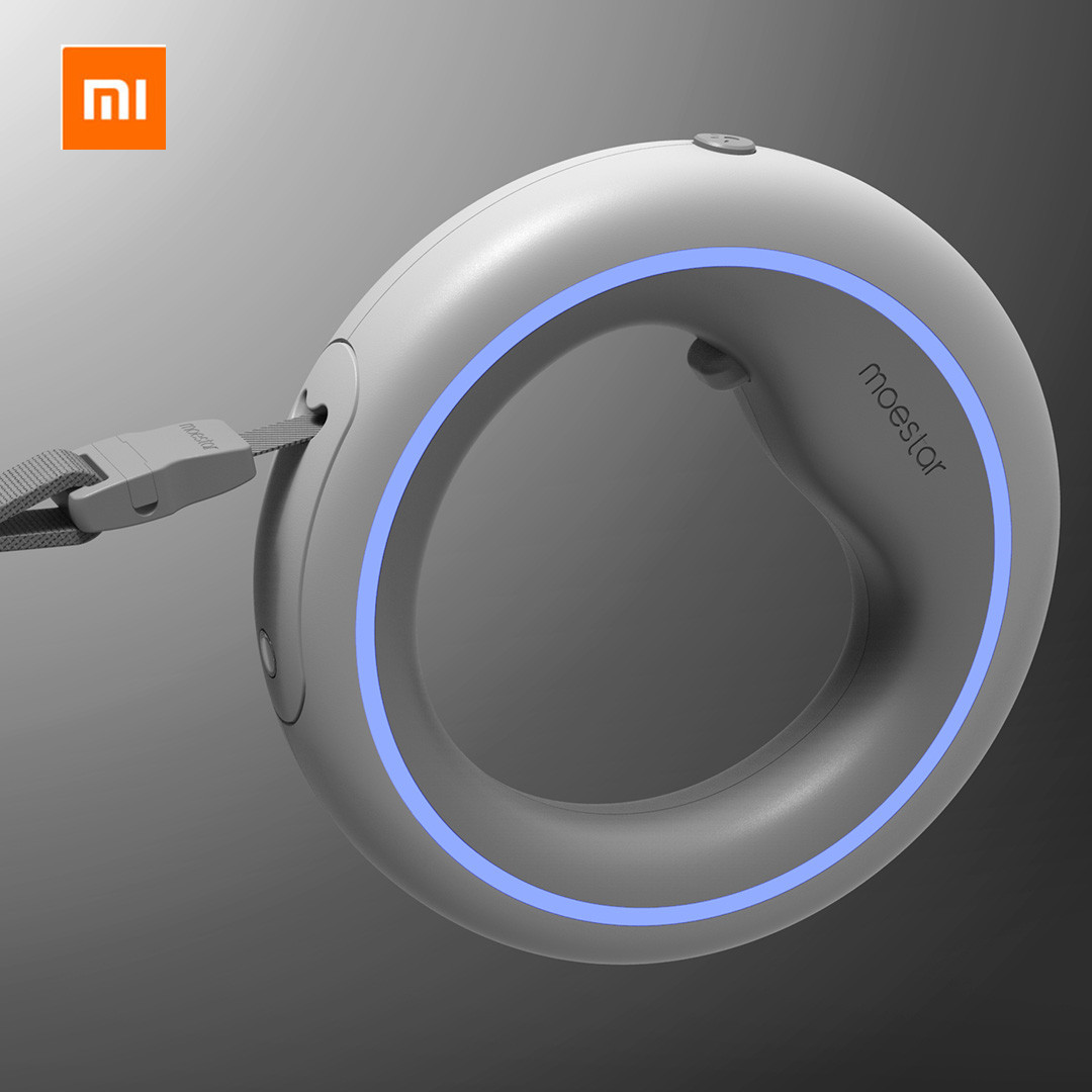 Original Xiaomi Mijia MOESTAR UFO 2.6m Retractable Pet Leash Rechargeable LED Night Light 50kg Static Tension Dog Traction Rope