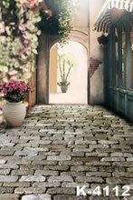 5ft*7ft Newborn Retro Brick Flooring Digital Photography Background For Wedding Couple Photo Studio Backdrop Vintage Door Flower