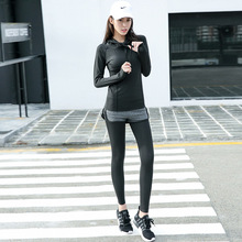 New Winter Women's Fitness Running Sports Fitness Suit Three Sets of Women's Clothing