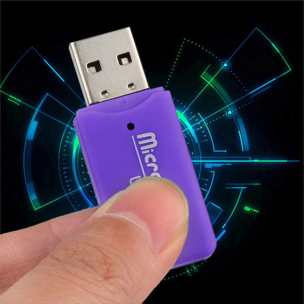 2 قطعة USB 2.0 مايكرو SD SDHC TF ذاكرة فلاش قارئ بطاقات البسيطة محول لأجهزة الكمبيوتر المحمول SDHC مايكرو قارئ بطاقات/الكاتب 31 #