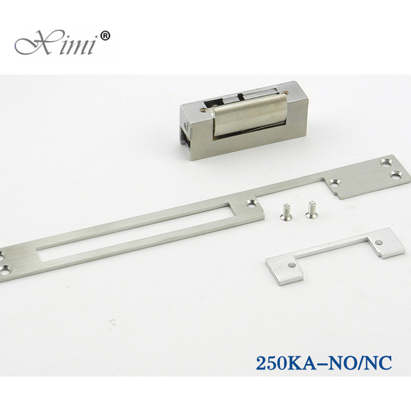Long Plate European Narrow-Type Door Lock Electric Strike NO Style Power To Open Fail-Secure Type Electric Lock Cathode Lock