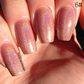 New HOT 1PC Holographic Holo Glitter Nail Polish Varnish Hologram Effect Pink Nail Polishes