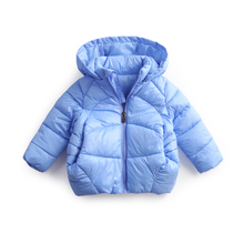 hot deal buy 2018 new brand baby girls winter cotton jackets kids boys warm outerwear coats children hooded parkas high quality 1-5 years