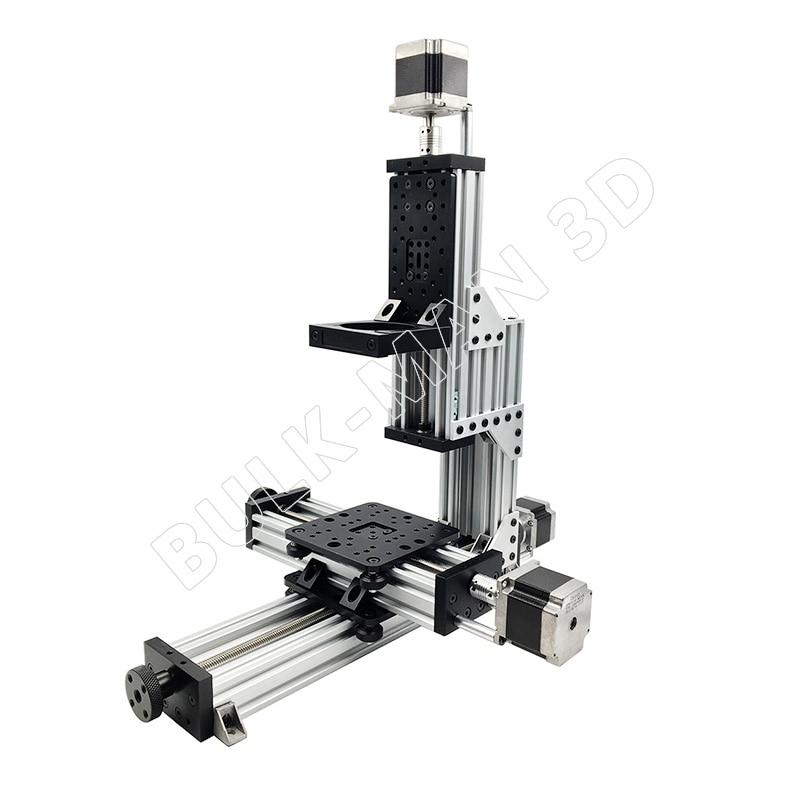 Image 2 - Free Shipping MiniMill CNC Machine Mechanical Kit 3 Axis Desktop MiniMill CNC Kit with 175 oz*in Nema 23 stepper motors3D Printer Parts & Accessories   -