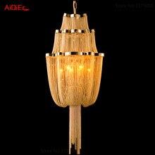 Bedroom modern lamps  Italian restaurant chain aluminum chandelier
