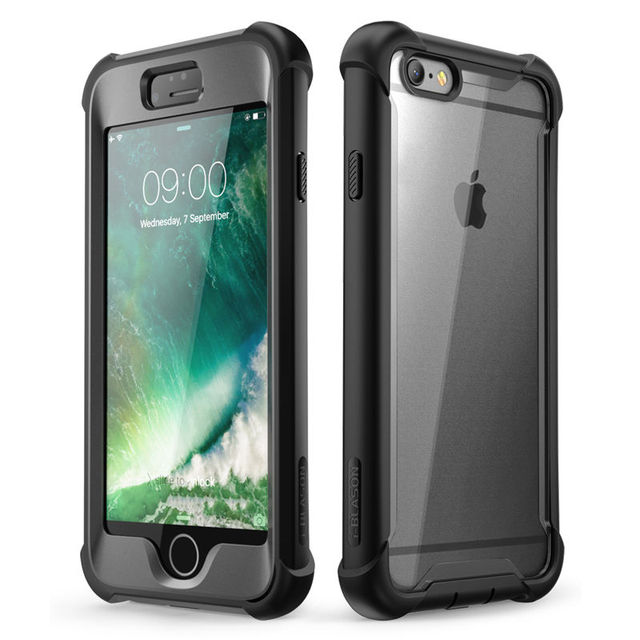 For iPhone 6 Plus/6s Plus Case 5.5 inch i Blason Ares Series Full Body Rugged Clear Bumper Case with Built in Screen Protector